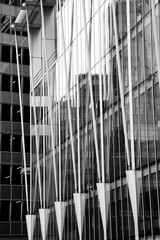 B/W Modern Office Building, London