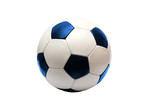 soccer ball with blue (isolated)