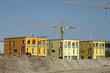 wohnhäuser im neubaugebiet