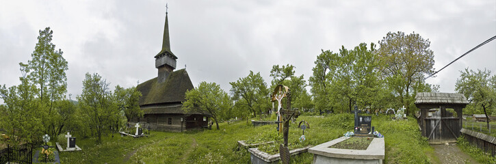 Bubesti Susani, traditional cemetery of northern Romania