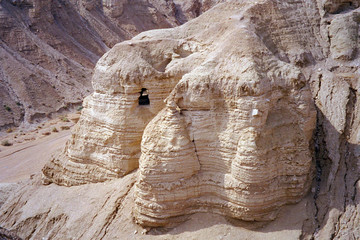 Where the Dead Sea Scrolls have been found, Qumran, Israel
