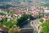 Sarajevo, Bosnia and Herzegovina - cityscape poster