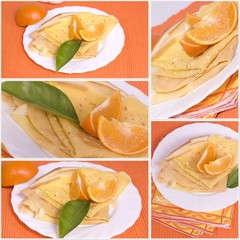 illustration crêpes à l'orange
