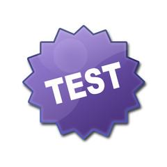 """Estrella brillante con texto """"TEST"""""""