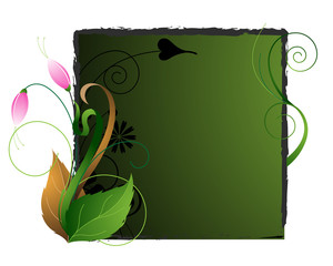 Emerald floral background