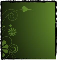 Dark green floral background