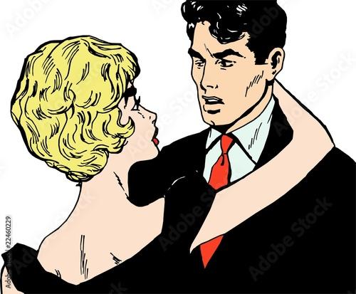 Ilustración: Parejas de jovenes enamorados