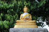 Buddha Felsen Gold Religion Tempel Schrein poster