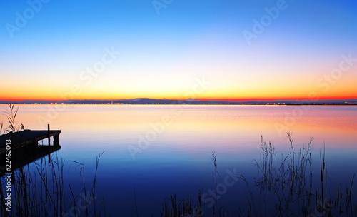 Foto op Canvas Pier paisaje de colores