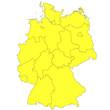 Deutschlandkarte gelb