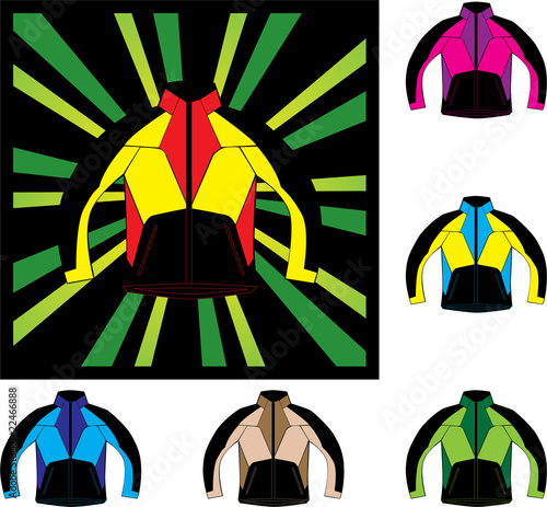 various color man jacket vector illustration