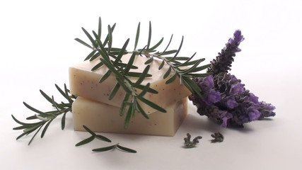 Herbal soap with rosemary and lavender loop - HD