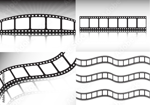 Vector film strip collection