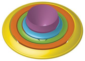 pulsante colorato