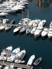 Motorboats moored, Monte Carlo