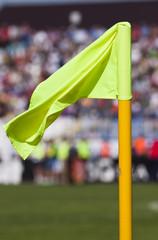 Corner flag in a soccer field