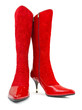 Red woman boots