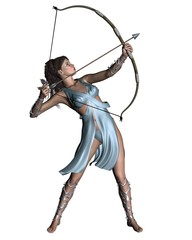 Diana (Artemis) the Huntress of classical mythology