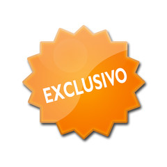 "Estrella brillante con texto ""EXCLUSIVO"""