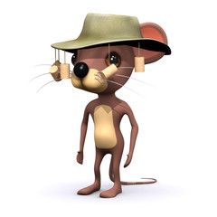 3d Mouse with cork hat