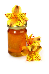 Floral honey and flowers