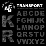 TRANSPORT. Alphabet. Illustration with association terms. poster