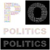 POLITICS. Wordcloud illustration. poster