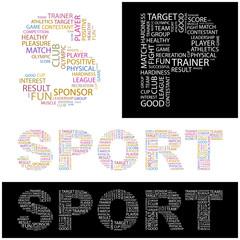 SPORT. Wordcloud illustration.
