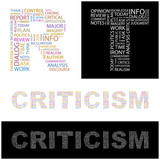 CRITICISM. Wordcloud vector illustration.