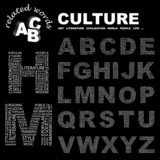 CULTURE. Alphabet. Illustration with association terms. poster
