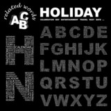 HOLIDAY. Alphabet. Illustration with association terms. poster