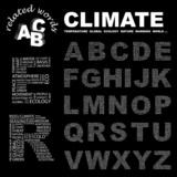 CLIMATE. ABC. Illustration with different association terms. poster