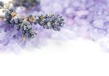 Fototapety Lavender Spa border.Isolated on white