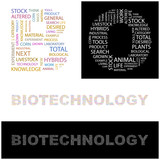 BIOTECHNOLOGY. Wordcloud vector illustration. poster