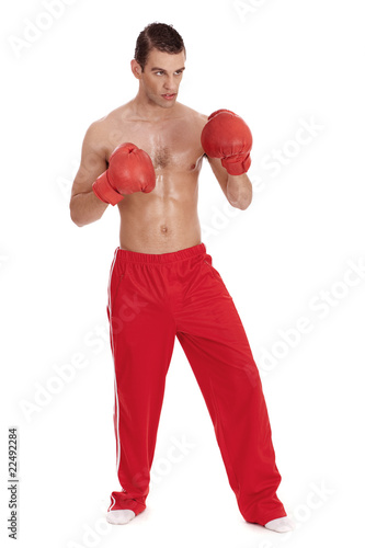 Aggressive boxing men