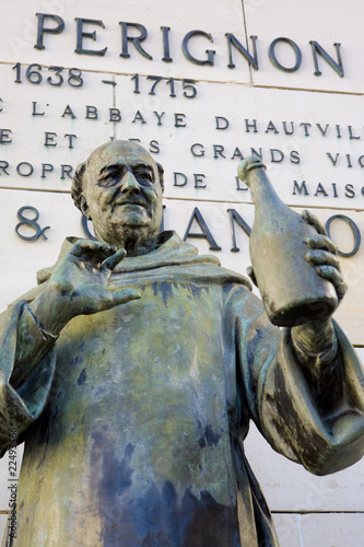 Dom Perignon statue, Épernay, Champagne Region, France - 22493466