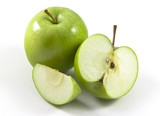 Green Granny Smith apples poster
