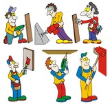 workers with tools poster