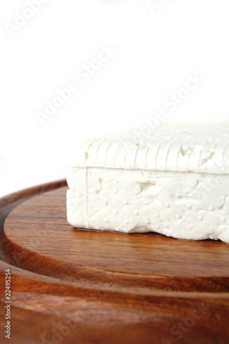 soft cheese on plate