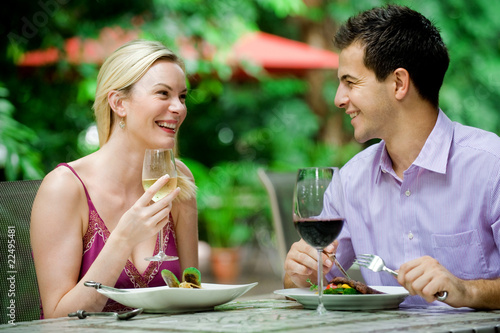 Couple Having Meal