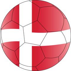 Soccer vector ball Denmark
