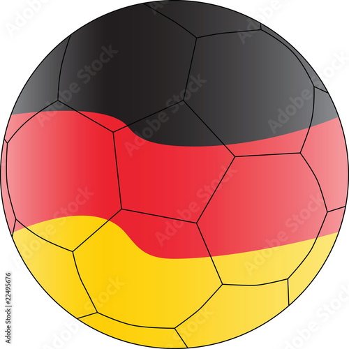 Soccer vector ball Germany