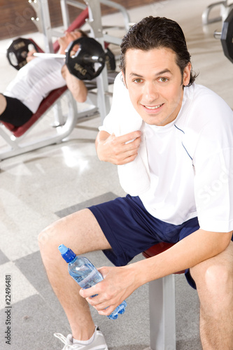 Attractive sportsman in the gym