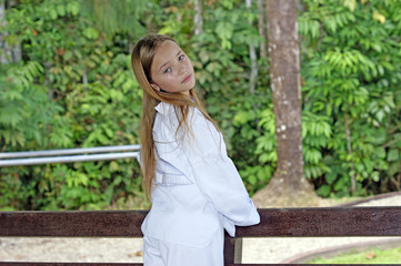 Princess Elena. The most beautiful schoolgirl of Borneo.