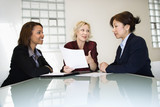 Businesswomen meeting