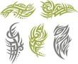 Tribal Tattoo Set Vector Illustration. Collection