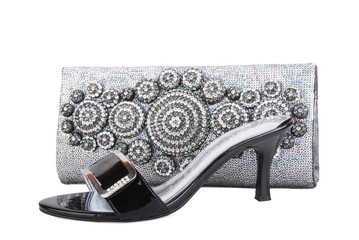 clutch purse & shoes