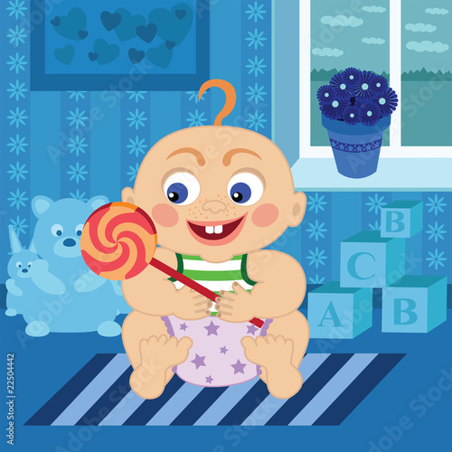 baby with Sugar candy