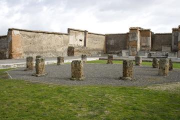 Macellum de Pompei, vue de l'intérieur