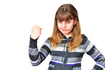 anger teen girl